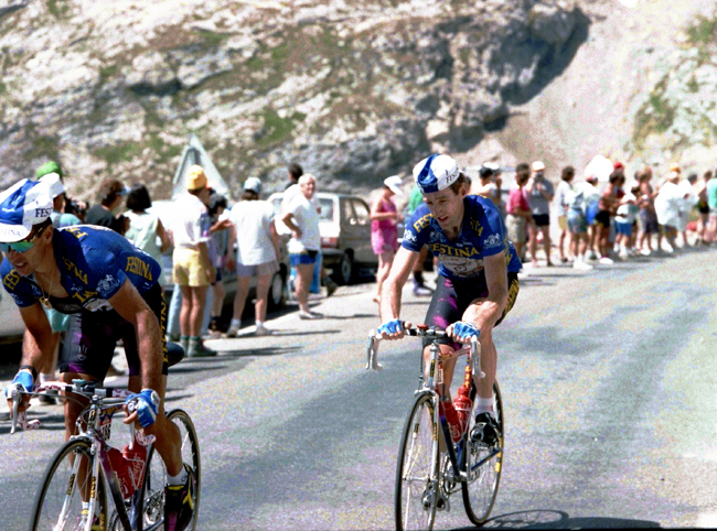 Sean Kelly in stage 14 of the 1992 Tour de France