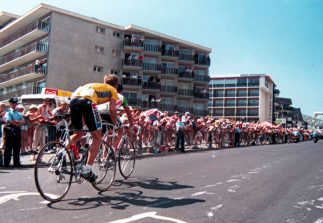 LEMond and Hinault finish stage 17 of the 1986 Tour de France