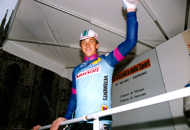 LeMond at the strt of the 1991 Milano-San Remo