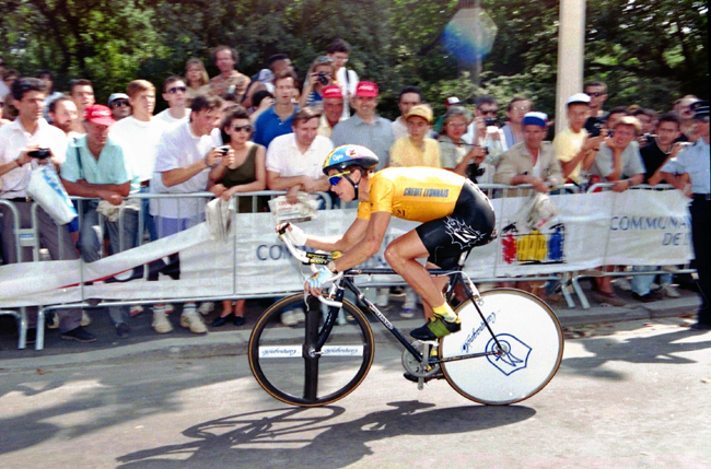 LeMond rides the prologue of the 1991 Tour dee France