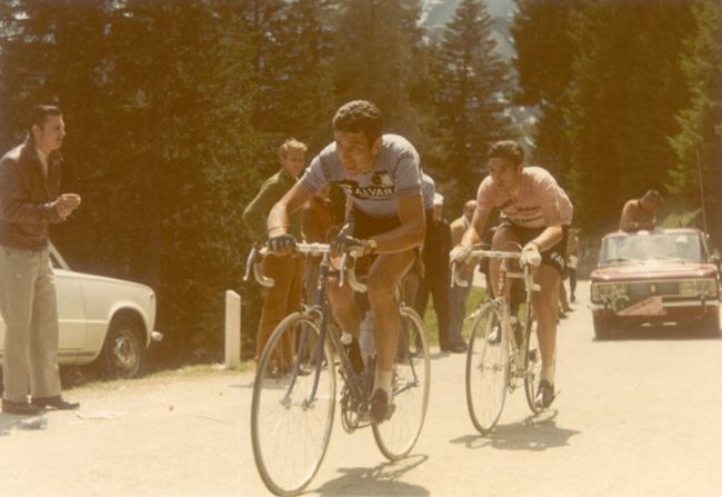 Eddy Merckx and Felice Gimondi in the 1970 Giro