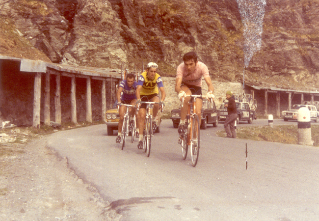 Eddy Merckx leads in stage 16 of the 1972 Giro