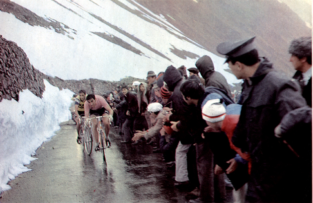 Merckx on the Stelvio in the 1972 Giro