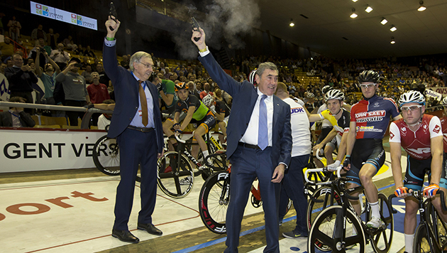Eddy MErckx and Patrick Sercu