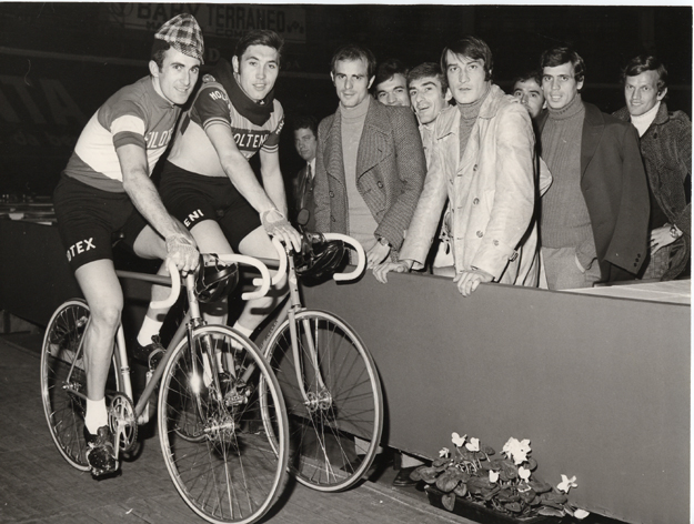 Eddy Merckx with Franco Bitossi at the 1971 Nilan 6-Day