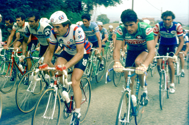 Moser riding the 1980 Coppa placci