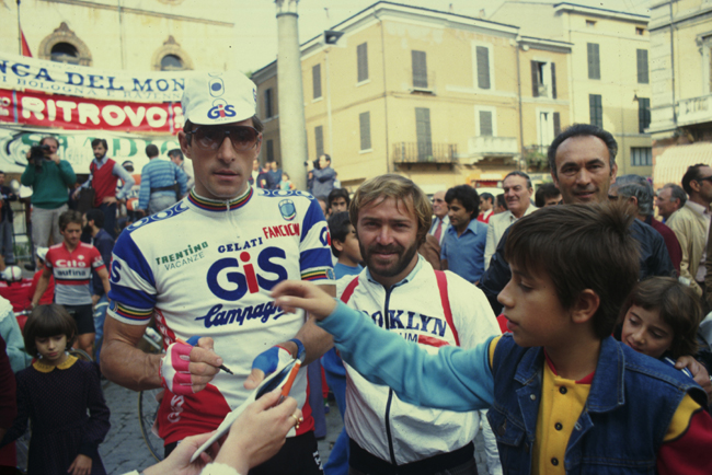 Francesco moser at the 1983 Giro dell'Emilia