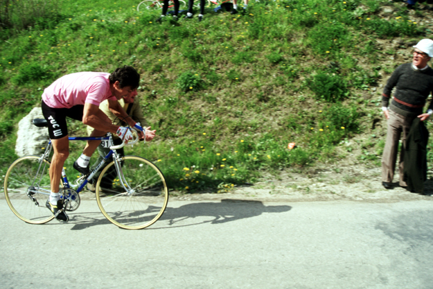 Francesco Moser in action during the 1984 Giro d'Italia