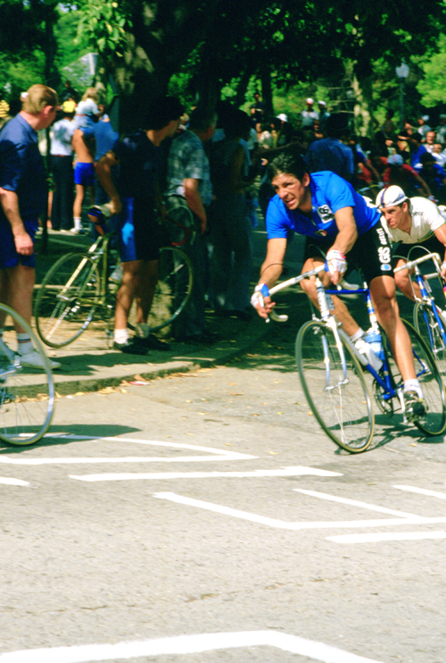 Moser riding the 1984 World Championships