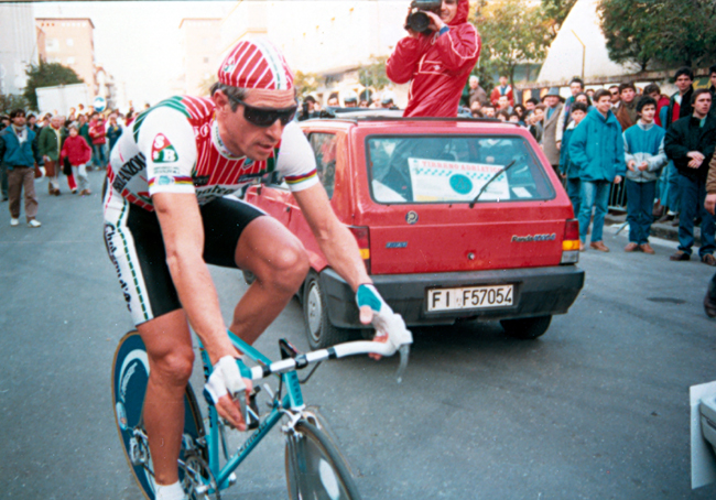 Moser in the prologue of the 1987 Giro