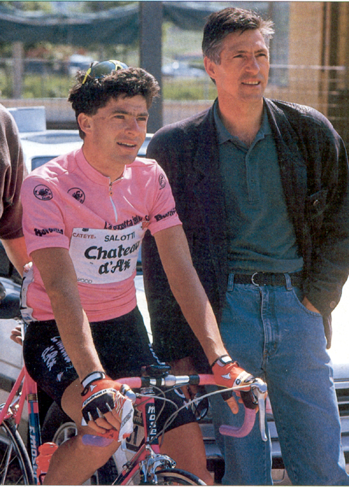 Francesco moser with Gianni Bugno