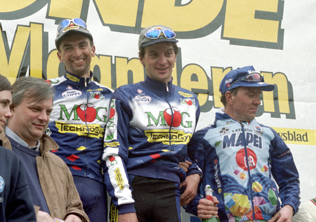 1996 Tour of Flanders podium