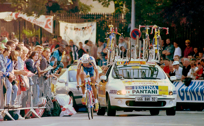 Panjtani rides the 1997 Tour de France prologue