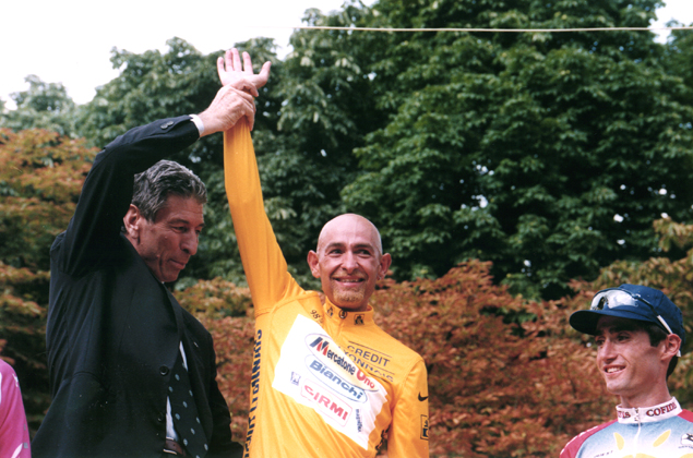 Felice Gimondi with Marco Pantani