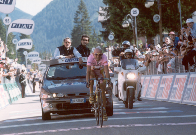 Pantani wins stage 20 of the 1999 Giro d'Italia