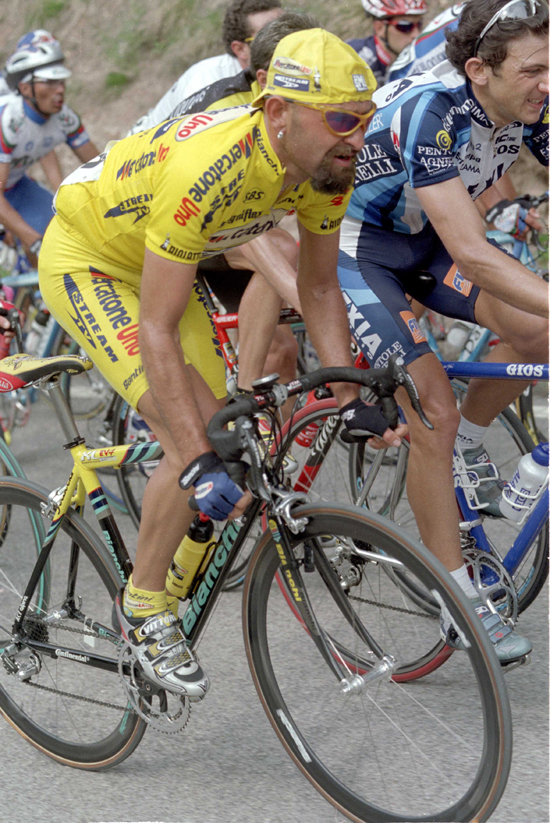 Pantani in the 2001 Giro del Trentino