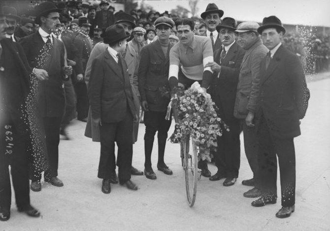 Henri Pelissier as the winner of the 1919 French Championships