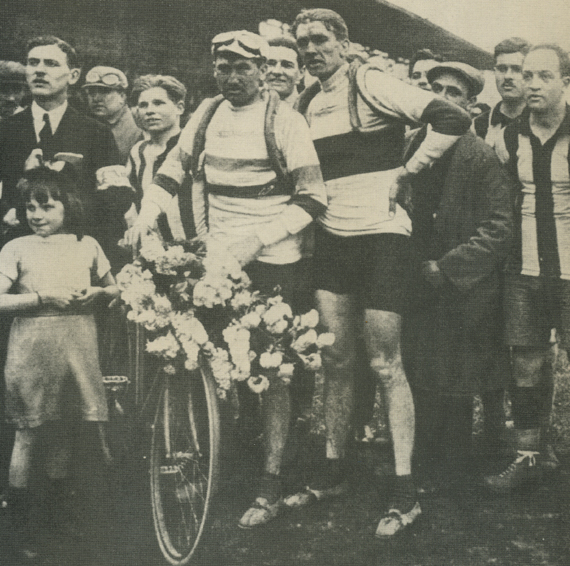 Henri and Francis Pélissier at the 1914 Paris-Roubiax