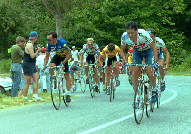 Roche in the 17th stage of the 1993 Giro