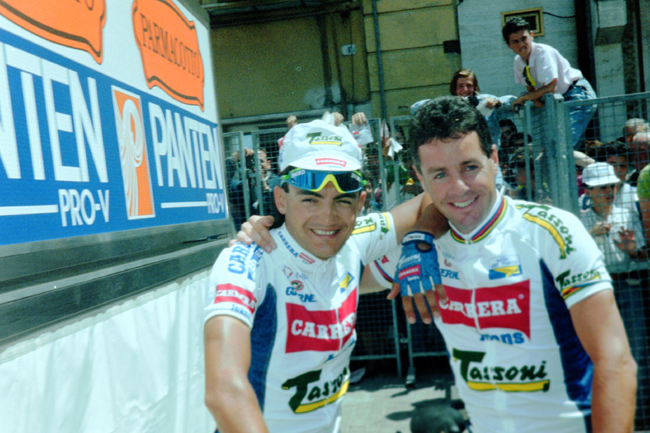 Roche with Claudio Chiappucci