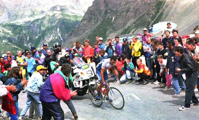 Roche rides in the 1993 Tour de France