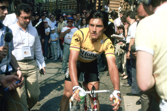 Saronni at the end of stage 22 of the 1984 Giro