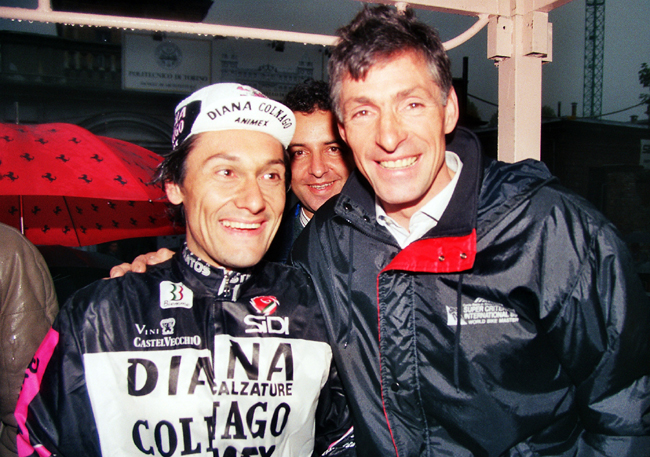 Giuseppe Saronni and Francesco moser