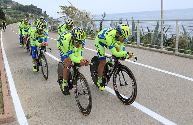 Tinkoff-Saxo Giro team time trial practice