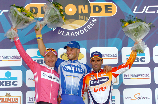 2005 Tour of FLanders podium