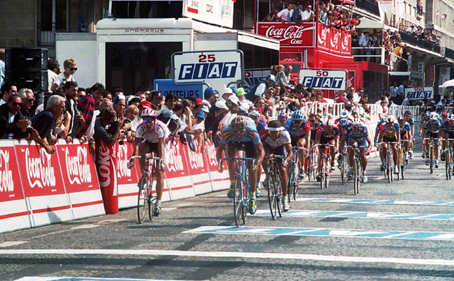Erik Zabel in stage 4 of the 1995 Tour de France