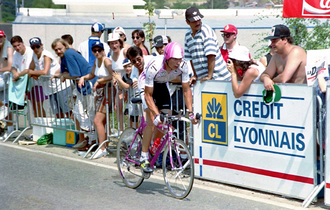Erik ZAbel rides stage 8 of the 1995 Tour de France