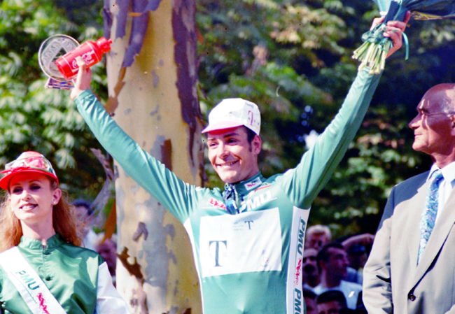 Erik Zabel wins the 1996 Tour de France green jersey