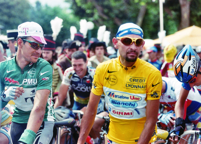 EWrik Zabel and Marco Pantani