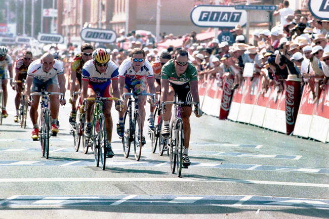Zabel win stage 8 of the 1998 Tour de France