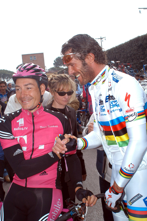 Erik Zabel with Mario Cipollini