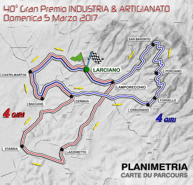 2017 GP larciano map