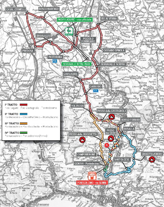2015 Giro dell'Appennino map