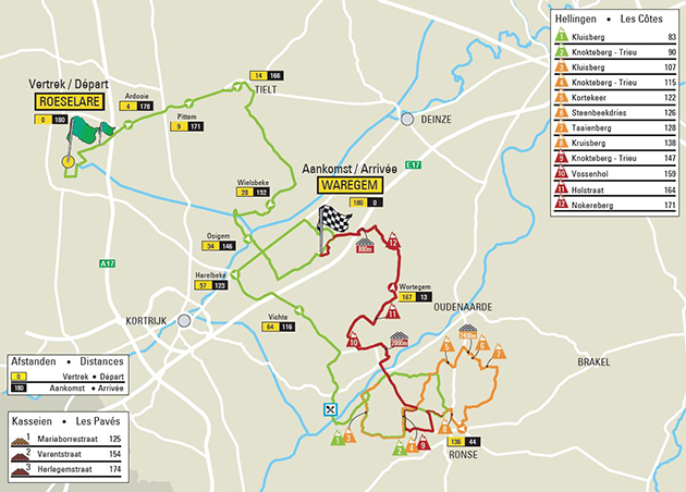 Dwars door vlaanderen map