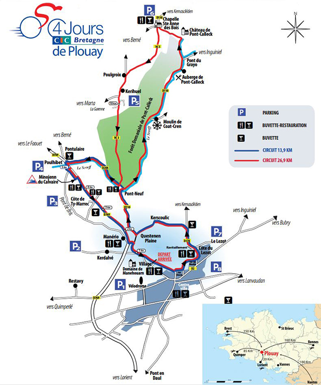 GP Ouest-France-Plouay map