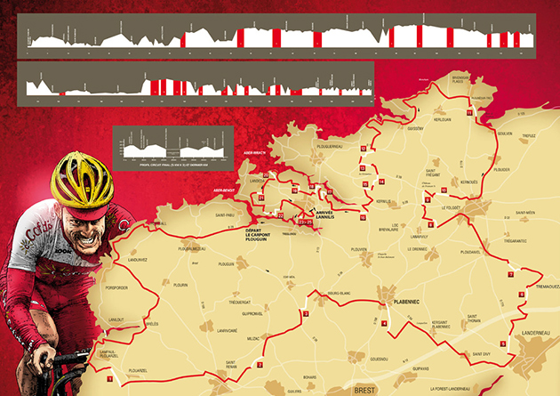 Tro Bro Lon race map and profile