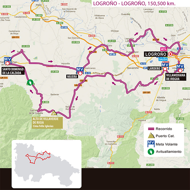 2017 Vuelta Rioja map