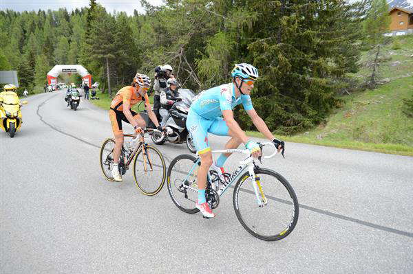 Jakob Fuglsang and Samuelk Sanchez