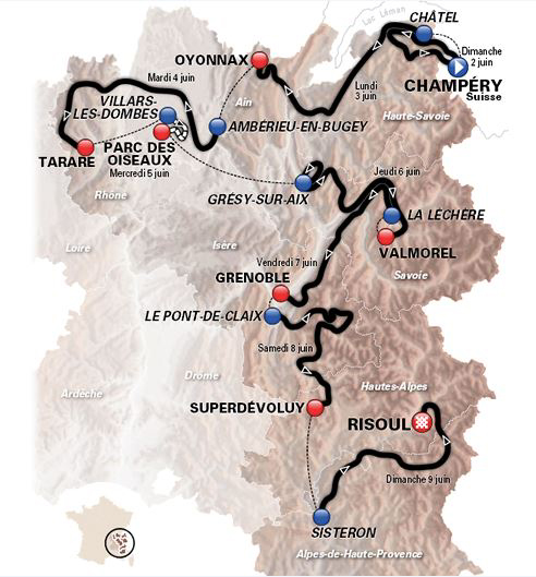 2013 Dauphiné map