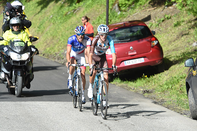 Thibaut Pinot and Romain Bardet