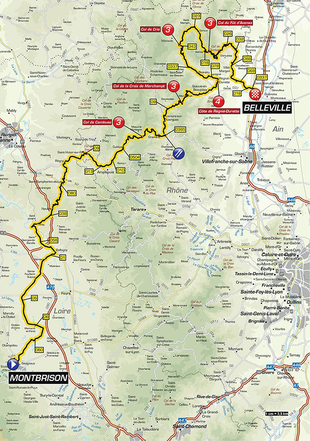 Dauphine stage 2 map