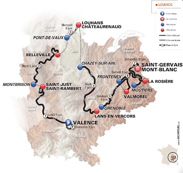 2018 Dauphine map