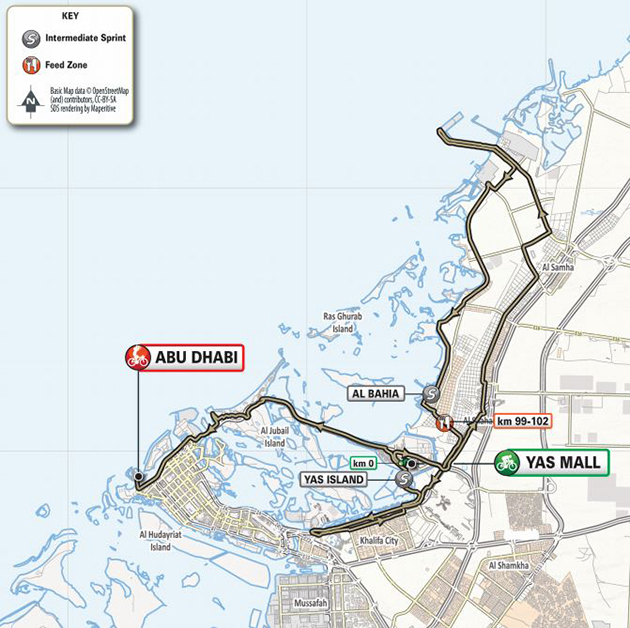 UAE Tour stage 2 map