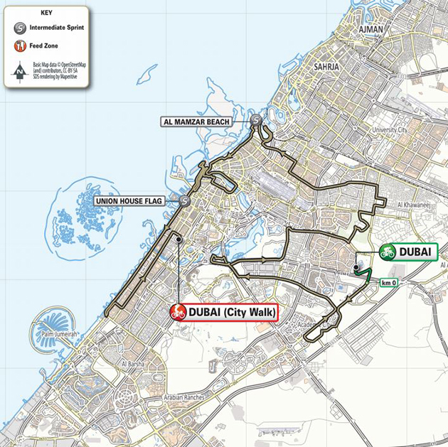 uAE Tour stage 7 map
