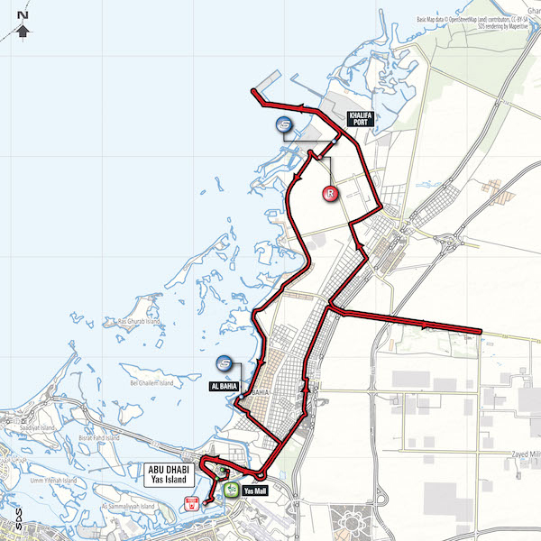 Abu Dhabi stage 2 map