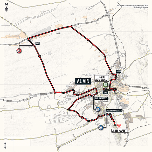 Abu Dhabi Tour stage 5 map